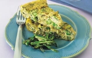 Frittata siciliana di asparagi e carciofi