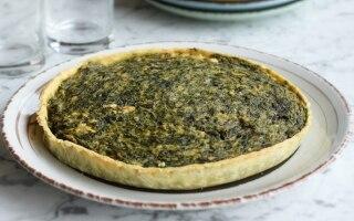 Torta di spinaci al salmone