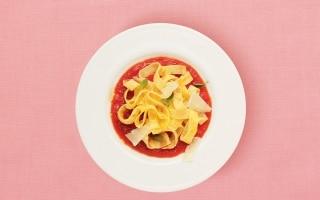 """""""Tagliatelle"""" di frittata con salsa al..."""