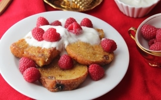 French toast di panettone