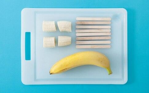 Preparazione Finti gelati di banana e cioccolato - Fase 1