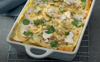 Lasagne verdi con patate e tartufo
