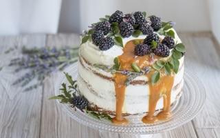 Naked cake al caramello