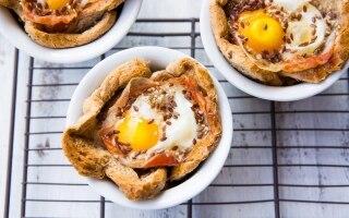 Cestini uova e pancetta