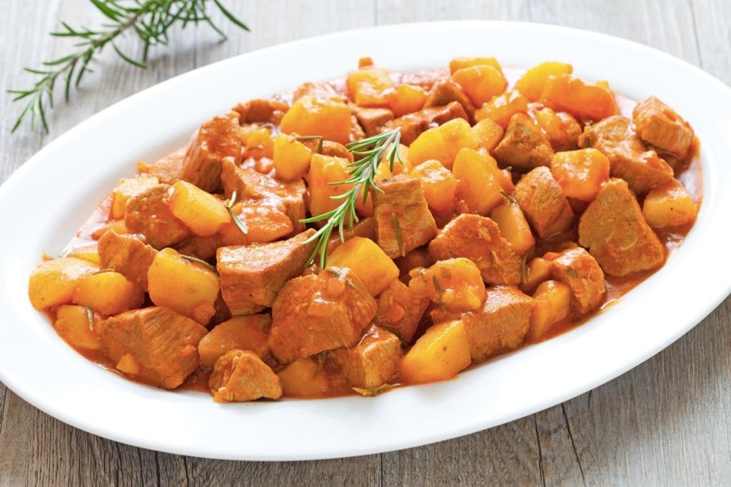 Тушеная картошка с телятиной рецепт с фото