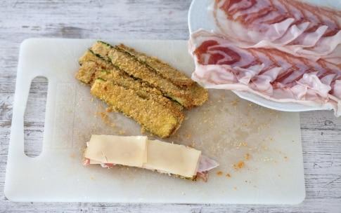 Preparazione Involtini di zucchine con pancetta e fontina - Fase 3