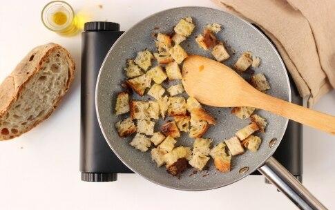 Preparazione Zuppa di ceci e cipollotti con crostini di pane all'olio - Fase 2