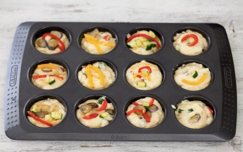 Preparazione Muffin alle verdure - Fase 4