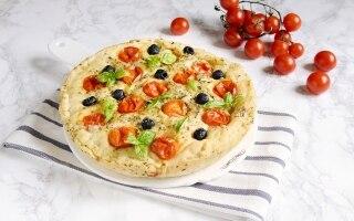 Focaccia con pomodorini ripiena