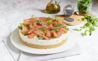 Cheesecake al salmone e rucola