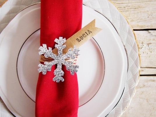 Fiocchi Di Neve Di Carta Fai Da Te : Segnaposto fai da te con fiocco di neve cucchiaio d argento