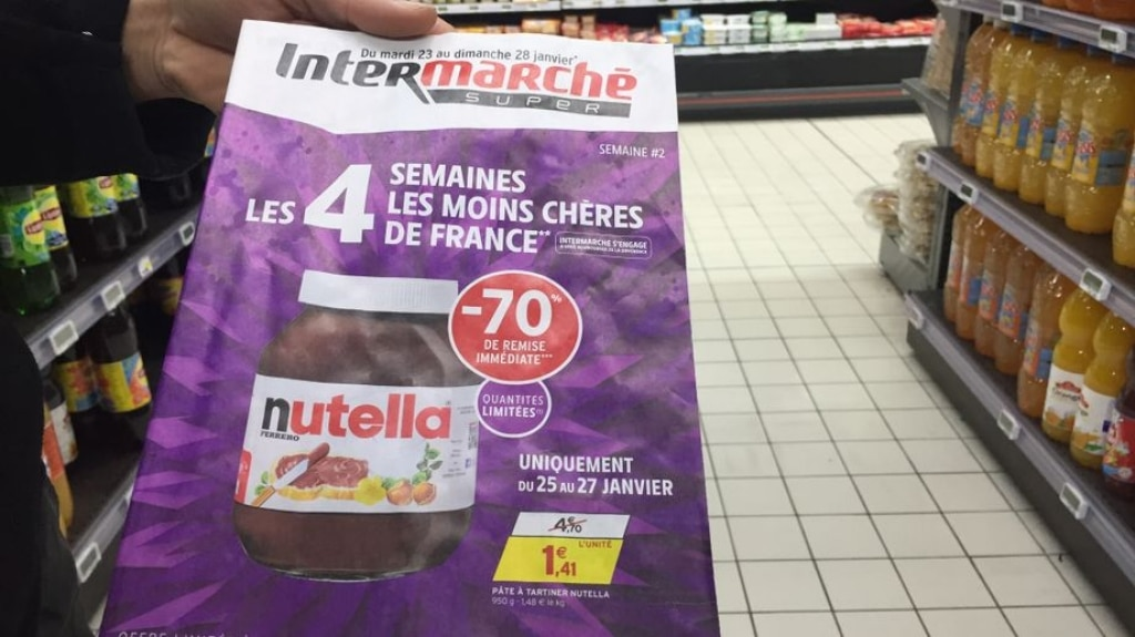 Nutella super scontata in Francia: