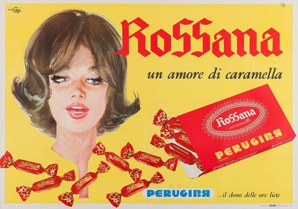 caramelle rossana pubblicità vintage
