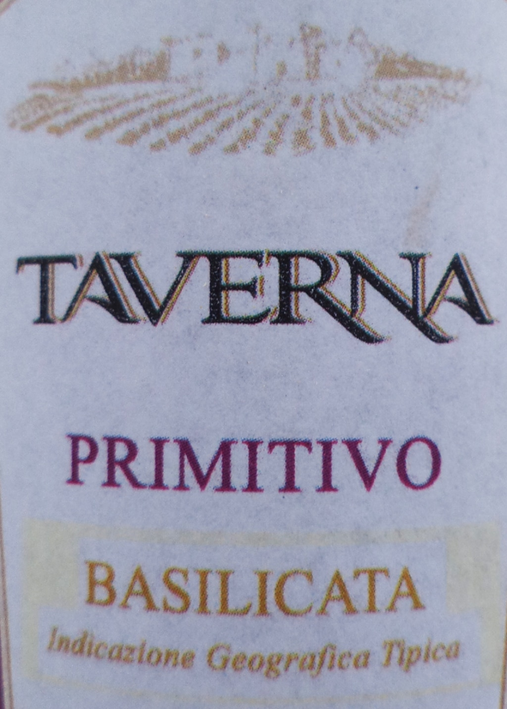 IGT Basilicata Primitivo - Taverna 2012