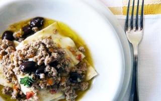 Lasagnette Con Ragù di Agnello e Olive