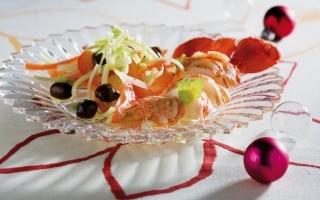 Astice in insalata al succo di pompelmo