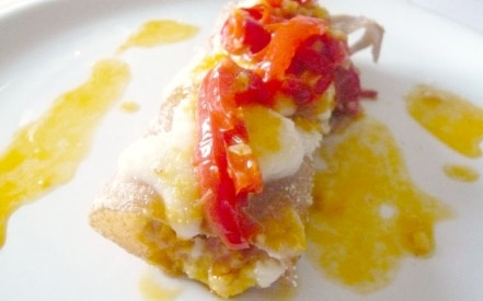 Cannelloni di farro con peperoni