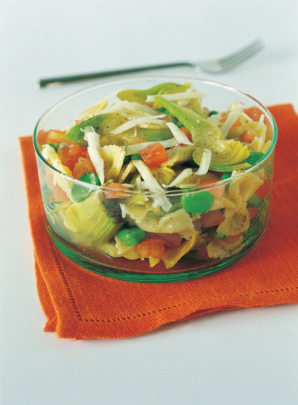 Farfalline in insalata