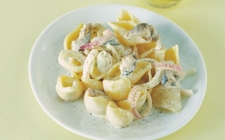 Conchiglie ai filetti di trota