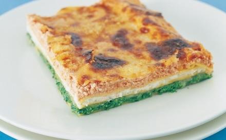 Lasagne ricotta, pomodoro e spinaci