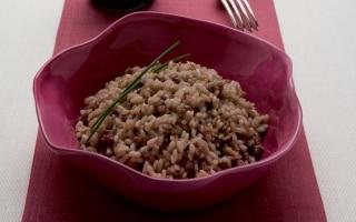 Risotto con salsiccia e balsamico