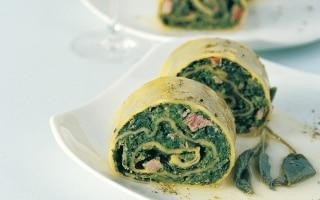 Rotolo di spinaci al burro e salvia