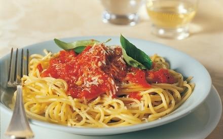 Spaghetti alla salsa di pomodoro