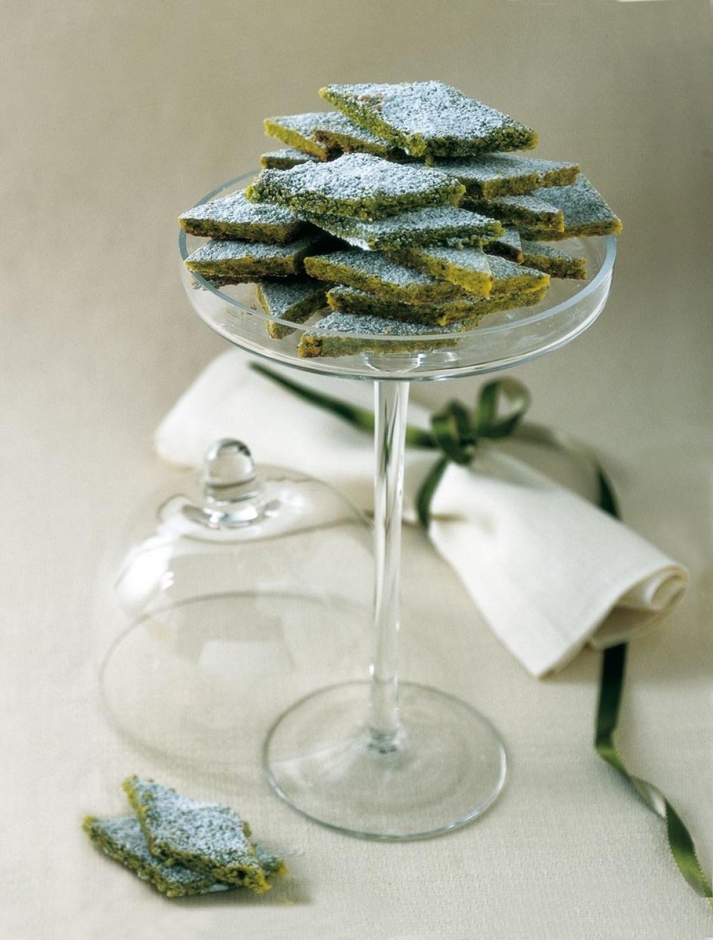 Biscotti di marzapane ai pistacchi