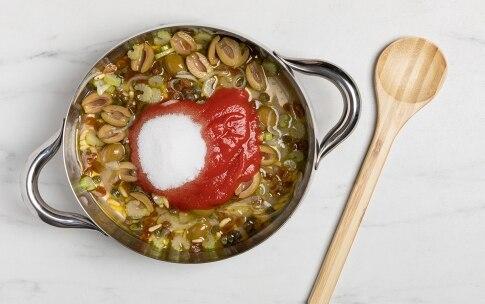 Preparazione Caponata di melanzane e peperoni - Fase 3
