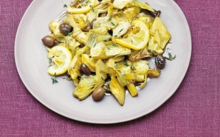 Carciofi alle olive e limone