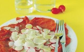 Carpaccio con ravanelli