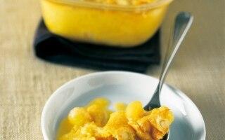 Clafoutis di melone al miele e mandorle