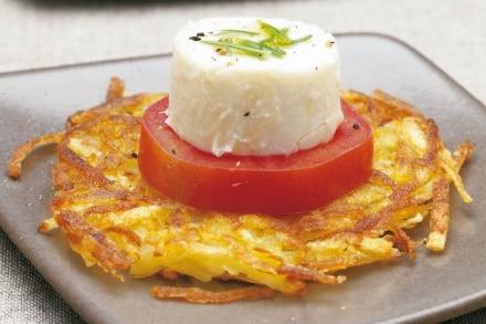 Crostatine di patate al pomodoro e formaggio caprino