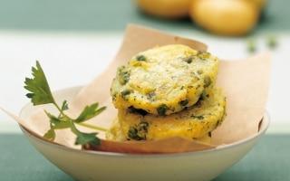Frittelle di piselli e patate