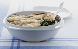 Gratin di spinaci alla fontina