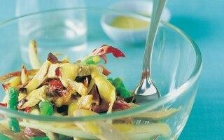 Insalata di fagiolini con filetti di tacchino
