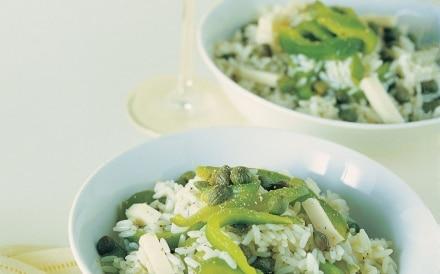 Insalata di riso ai filetti di peperoni e fontina