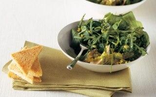 Misticanza con gallina alle olive e buccia...