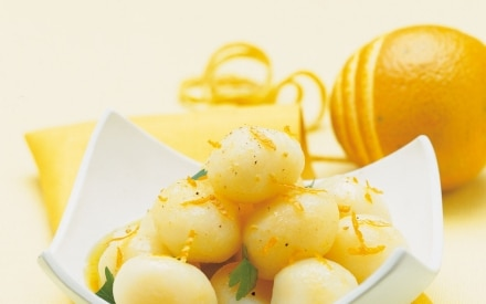 Patate novelle con salsa all'arancia