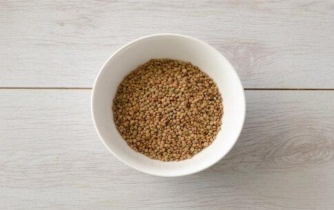 Preparazione Penne con lenticchie e ragù di verdure - Fase 1
