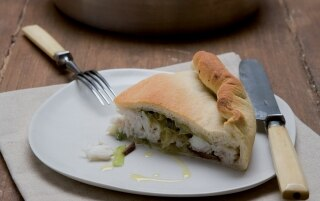 Pizza di baccalà