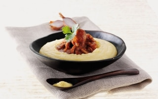 Polipetti con crema di polenta