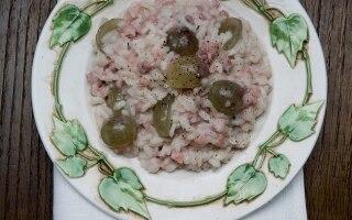 Riso, salsiccia e uva