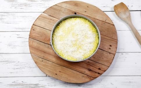 Preparazione Tortino di risotto giallo gratinato alla mozzarella - Fase 3