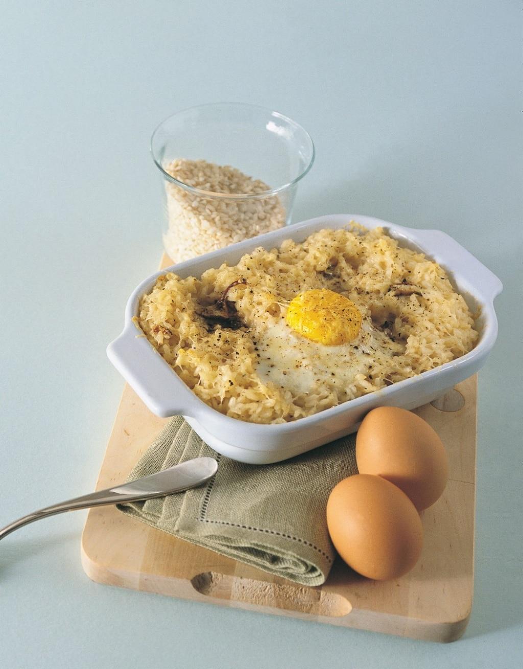 Sformato di uova e riso