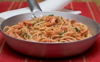 Spaghettini al tonno