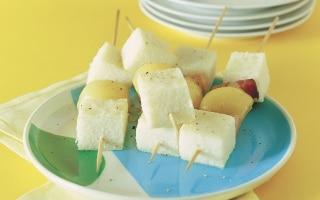 Spiedini di polenta bianca