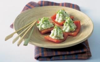 Tartine di peperone con gorgonzola ai...