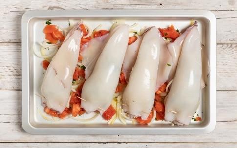 Preparazione Calamari e patate al forno - Fase 3