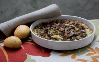 Tortino di patate e funghi